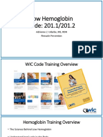 Az Wic Code Training Low Hemoglobin Revised