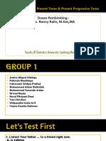 present simple kelompok 1
