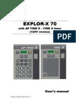 Villa Explor X-70- User Manual