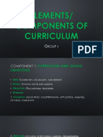 Elements and Components of Curriculum