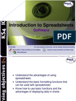 iNTRODUCTION TO SPREADSHEETS