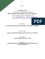 AnalysisofTaxReformsinIndiaandNewDirectTaxCodeNDTC
