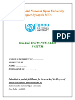 Indira Gandhi National Open University Project Synopsis MCAnew.docx