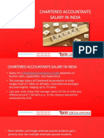 Chartered Accountants Salary in India- How much CA Earn?