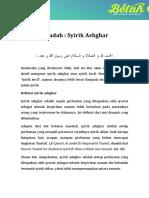 1563504778555_ziyadah 9 - Syirik Ashgar