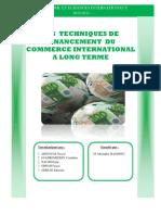Les Techniques de Fin an Cement Du Commerce International a Long Terme
