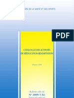 Catalogue Des Activites de Reeducation-readaptation_version 3 - 2009