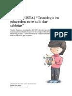 TECNOLOGÍA EN LA EDUCACIÓN CONTEMPORÁNEA