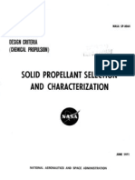 Solid Propellant Selection and Characterization