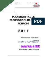Plan Distrital - Seguridad Ciudadana