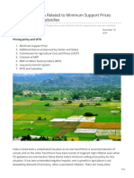 Agriculture Issues Related to Minimum Support Prices MSP WTO and Subsidies
