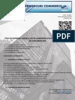 Clasificacion de La Empresas Ley d Companias