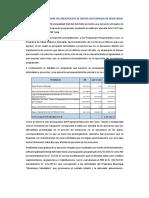 Análisis y Comentarios Del Presupuesto de Gastos Con Enfoque de Resultados