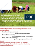 Performance of Indian Agriculture in Post Indepence Period