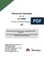 Manual Analisador de Energia Minipa ET 5060 1190371293