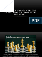 What Are the 5 Golden Rules That You Must Know for Choosing the Best Stock1
