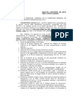 Solicito Concesion de Ruta Lima - Cusco
