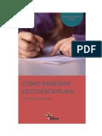 Cómo enseñar lectoescritura (manual para docentes)