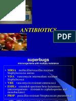 Antibiotics and antibacterial drugs S