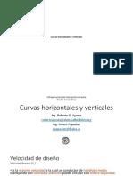 Curvas horizontales y verticales TOGRAFIA Y VIAS