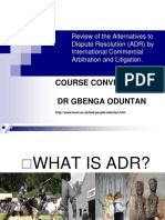 Valuable Lecture on ADR