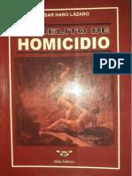 EL DELITO DE HOMICIDIO