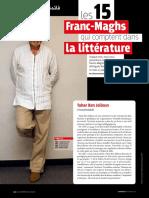 Palmares Ecrivains contemporains maghrebins