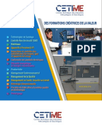 Catalogue de Formations du CETIME 2020