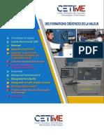 Catalogue de Formations du CETIME 2020