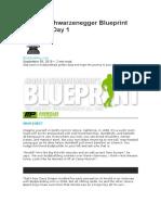 Arnold Schwarzenegger Blueprint Trainer Day 1