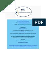 SFA Newsletter December 2019
