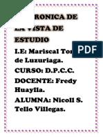CRONICA DE LA VISTA DE ESTUDIO