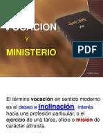 Vocación y Ministerio  2020