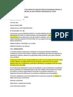 Memoria Descriptiva Del Proyecto Arquitectónico de Remodelación de La Fachada Principal de Una Vivienda Unifamiliar de 2 Pisos
