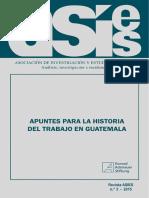 APUNTES PARA LA HISTORIA DEL TRABAJO EN GUATEMALA