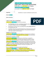 Sample Trust Distribution Minutes