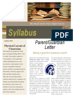 classroom community plan newsletter syllabus