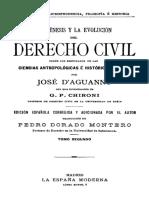 La Génesis y La Evolución Del Derecho Civil (DAguanno) T2