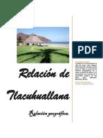 Relación de Tlacuahuallana España