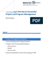 Project Cost Forecasting in SAP Solution Overview