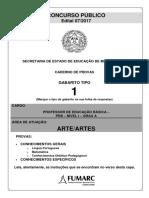 Prova - Professor de Artes FUMARC