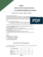 Questões - Especiação, classificações biológicas e sua evolução