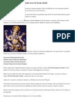 Comment vénérer Ganesh avec le tronc droit