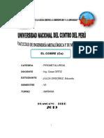 EL COBRE ( concepto, historia, caracteristicas, propiedades, mineralogia, metalurgia, usos y aplicaciones).pdf