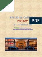 Ieee Csde Icoste 2019 Final Program