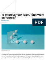 To Improve Your Team, First Work on Yourself