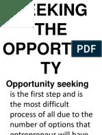 SEEKING-THE-OPPORTUNITY.pptx