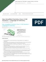 Simplified Chemistr book
