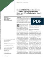 Recist Criteria - Respon Solid Tumor Pada Terapi