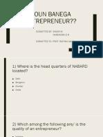 Entrepreneurial development quiz